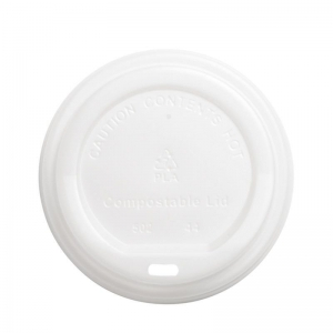 Compostable Lid WH 80mm Ux20