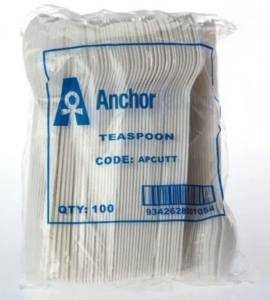 Teaspoon Plastic White Ux40