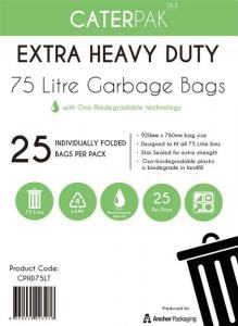 Garbage Bags 75L Ux10