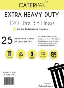 Garbage Bags 120L Ux5