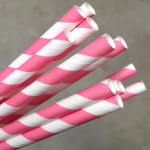 Straw Paper Pink/White Ux10