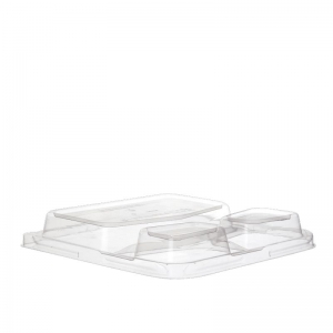 PLA Lid Tray 3 Comp 9in Ux4