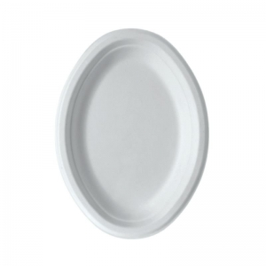 Sugarcane Plate Oval 7in Ux10